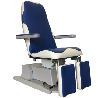 Podo treatment chair blue white martinibeauty